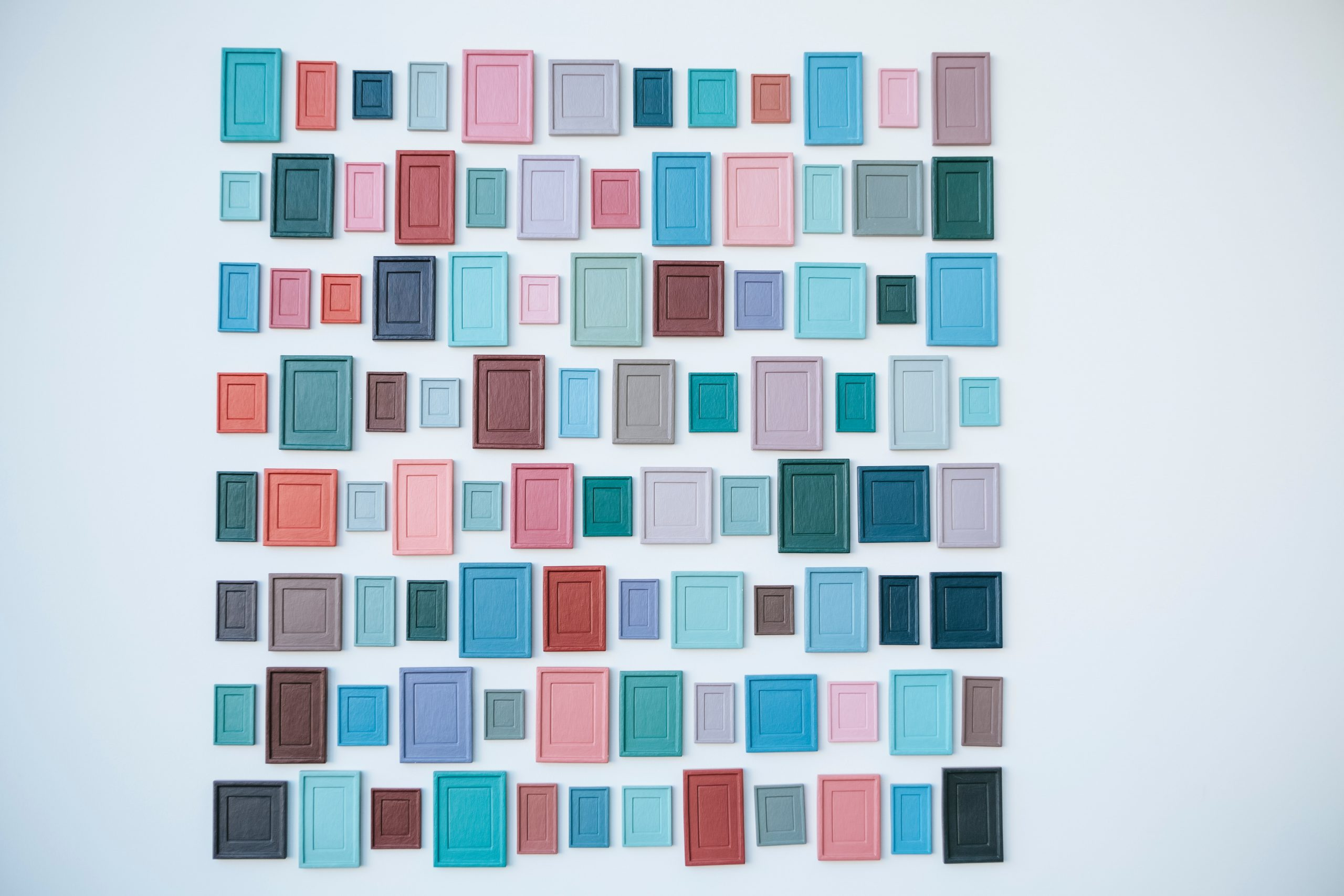 assorted-color photo frame lot